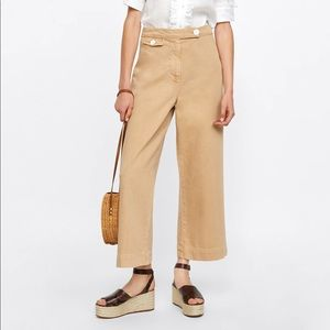 Zara Marine Culottes Wide Leg Crop Pants